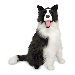 Melissa and Doug Plush Border Collie Stuffed Dog