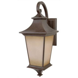 Frances Large Exterior Wall Mount Lantern in Oiled Bronze   Z6020 92
