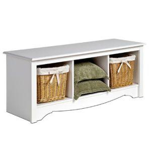 Prepac Monterey Wood Storage Bedroom Bench   WSC 4820
