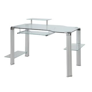 Innovex Glass Computer Desk with Tower Shelft   DP1065G60