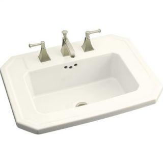Rose Design on Centerpiece Self Rimming Bathroom Sink   K 14274 BR 96
