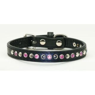 Woofwerks Black Tie Nic Hardware Dog Collar in Black   98 4780 BK