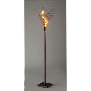 Dainolite Ice Cube Nine Light Floor Lamp in Oil Brushed Bronze