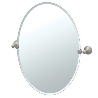 Gatco Laurel Ave Tilting Beveled Oval Wall Mirror