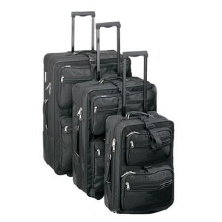 Goodhope Bags High Voltage Upright 3 Piece Luggage Set