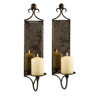 IMAX Hammered Mirror Wall Sconce (Set of 2)