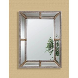 Bassett Mirror Silver Leaf Vine Bevel Wall Mirror   6357 1764