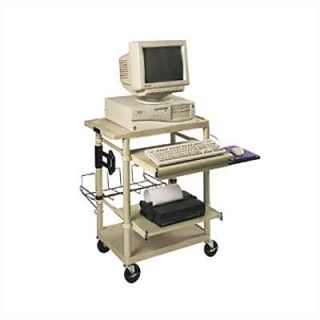 Luxor Workstation with Two Adjustable Pull Out Shelves