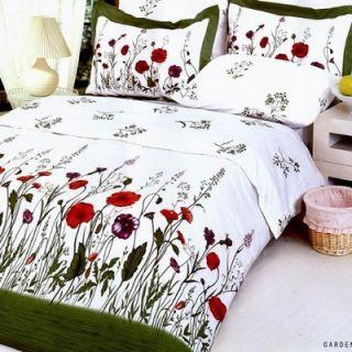 Le Vele Garden 6 Piece Full / Queen Duvet Cover Bedding Set