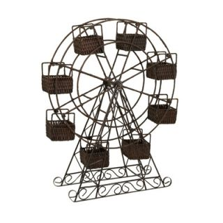 IMAX Ferris Wheel Basket Planter