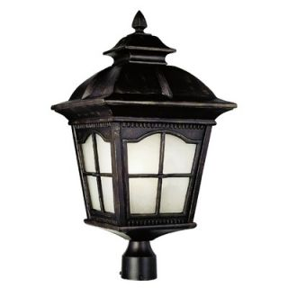TransGlobe Lighting One Light Large Post Lantern in Black   PL 5425