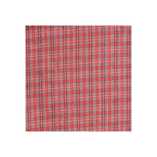 Patch Magic Red Plaid and Green Black Lines Curtain Valance