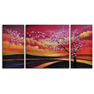 My Art Outlet Hand Painted Painted Sky 3 Piece Canvas Art Set   M