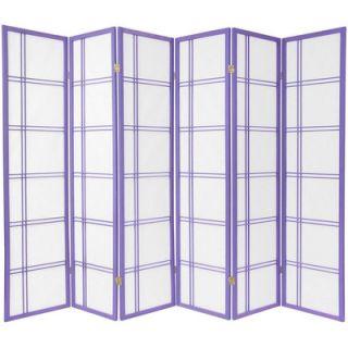 Oriental Furniture Double Cross Shoji Screen in Lavender   DCSP