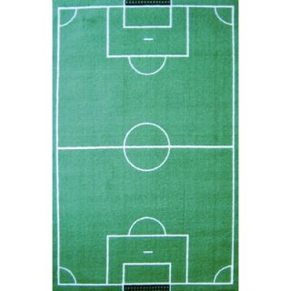 Fun Rugs Fun Time Soccer Field Sports Kids Rug   FT   134