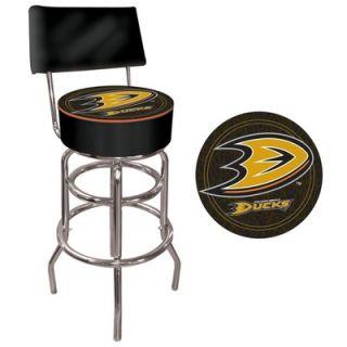 Trademark Global NHL Padded Bar Stool with Back   NHL1100 AD