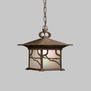 Kichler Morris Outdoor Hanging Lantern in Distressed Copper