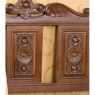 Wildon Home ® Vernon Handcarved Wood Entryway Storage Bench
