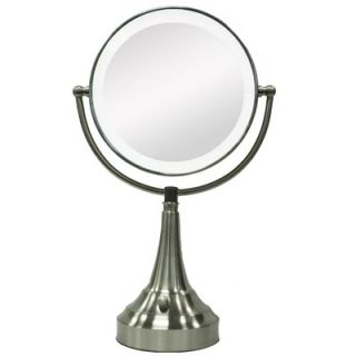 Zadro Round Vanity Mirror with LED Surround Light in Satin Nickel