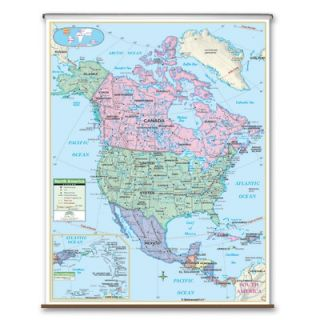 Universal Map Primary Wall Map   North America