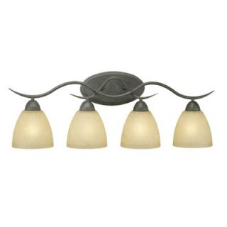 Thomas Lighting Limestone Vanity Light in Painted Bronze   Energy Star