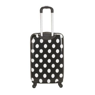 Rockland Laguna Beach 3 Piece Upright Luggage Set   F208 BLACKDOT