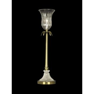 Dale Tiffany One Light Crystal Buffet Lamp in Light Antique Brass