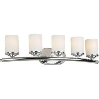 Forte Lighting Five Light Vanity Light   5105 05 05 / 5105 05 32