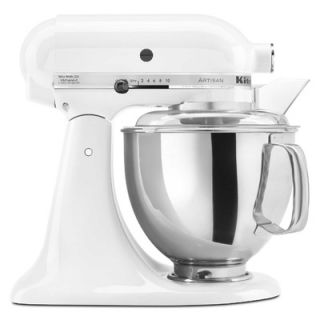 KitchenAid Artisan Series 5 Quart Tilt Head Stand Mixer in White