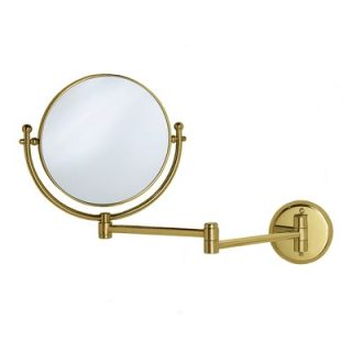 Gatco Magnifying 8 Swinging Wall Mirror in Polished Brass