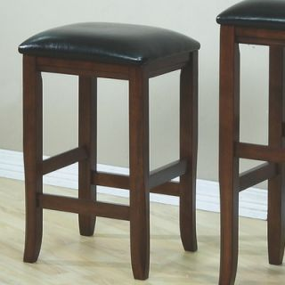 Monarch Specialties Inc. 24 Barstool with Leather Cushion Seat in
