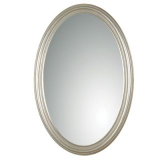 Uttermost Franklin Oval Mirror in Antique Silver Leaf