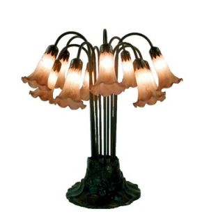 Warehouse of Tiffany Lily Amber Table Lamp   TBL10+AM
