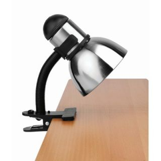 Lite Source Henrick Gooseneck Reading Lamp with Clamp in Black and
