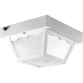 Progress Lighting Outdoor Flush Mount in White   Energy Star   P7340