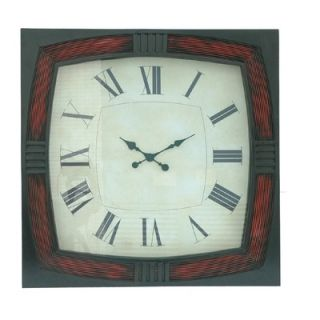 Crestview Red/Black Framed Wall Clock   CVCKA502