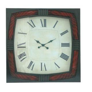 Crestview Red/Black Framed Wall Clock   CVCKA502