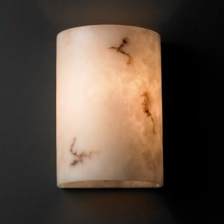 Justice Design Group LumenAria One Light Wall Sconce with Resin Shade