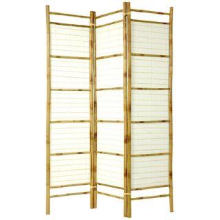 Oriental Furniture Rice Paper Bamboo Shoji Room Divider