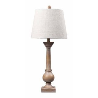 Sterling Industries Large Post Table Lamp in Bleached Wood