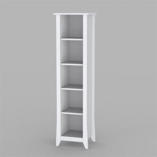 Nexera Vice Versa Slim Bookcase in White Lacquer