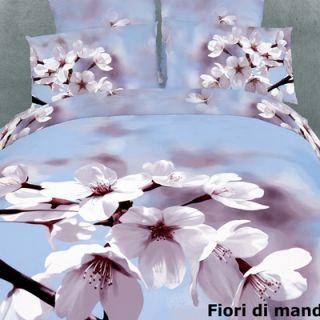 Dolce Mela Fiori di Mandorla 6 Piece Full / Queen Duvet Cover Set