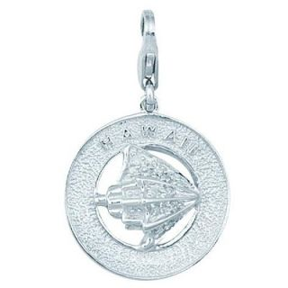 EZ Charms 14K 1.27 Grams White Gold Diamond Reindeer Charm