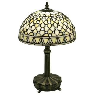 Warehouse of Tiffany White Jewel Table Lamp   T12043TGRA