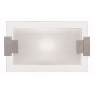 Access Lighting Wall Sconce with Frosted Glass in Brushed Steel