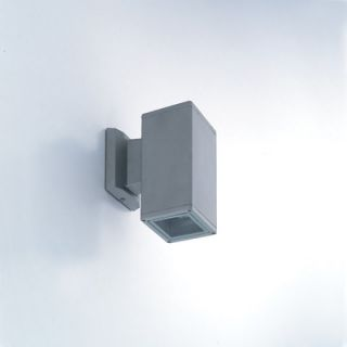 Eurofase One Light Outdoor Wall Sconce with Clear Shade in Grey