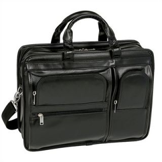 McKlein USA P Series Hubbard Leather Laptop Case in Black