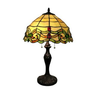 Warehouse of Tiffany Amber Table Lamp   TWBS21030+GT2046