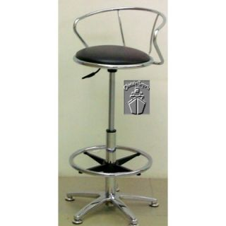 Chintaly Adjustable Swivel Stool in Chrome