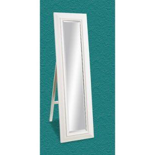 Bassett Mirror Cheval Mirror in White Lacquer